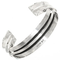 Navajo Indian Made Silver Cuff Bracelet 30513