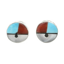 Zuni Sunface Post Earrings 30516