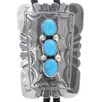 Navajo Turquoise Bolo Tie 30518