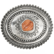 Old Pawn Spiny Oyster Silver Belt Buckle 30520