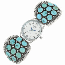 Old Pawn Sleeping Beauty Turquoise Watch 30522