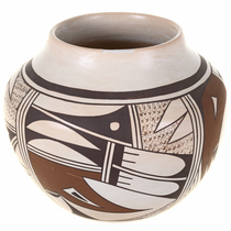 Vintage Authentic Hopi Pottery Bowl 30557