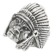 Indian Chief Sterling Silver Mens Ring 30562