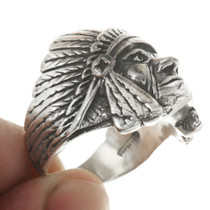 Silver Indian Chief Ring 30562