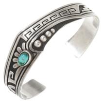 Vintage Overlaid Silver Turquoise Bracelet