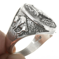 Native American Buffalo Ring 30563