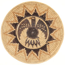 Vintage Navajo Eagle Basket Tray 30579