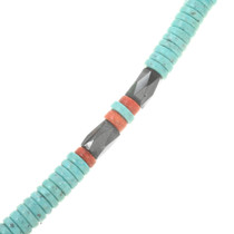 Beaded Turquoise Necklace 30587