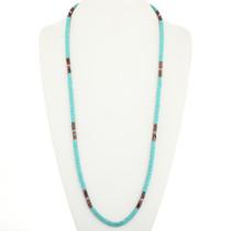 Turquoise Hematite Navajo Necklace 30587