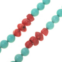 Coral Necklace Big Bead Southwest Design 30591