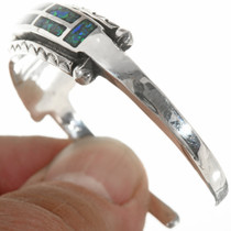 Navajo Inlay Sterling Silver Bracelet 30611