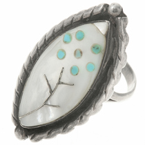 Vintage Zuni Inlaid Ladies Ring 30614