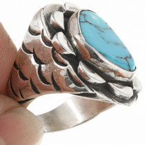 Old Pawn Sterling Silver Navajo Ring 30628