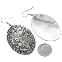 Overlaid Silver Navajo Earrings 30635