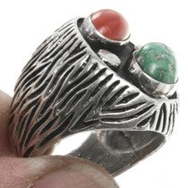 Old Pawn Sterling Silver Turquoise Ring 30655