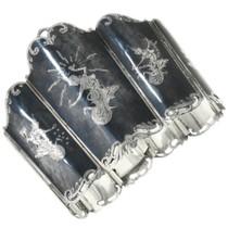 Vintage Hinged Silver Cuff Bracelet 30673