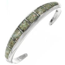 Navajo Inlaid Opal Silver Bracelet 30678