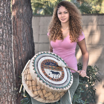 Traditional Rawhide Native American Drum 30679