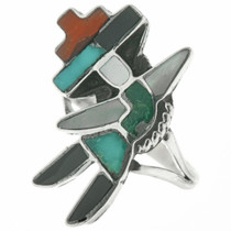 Old Pawn Zuni Rainbow Man Ladies Ring 30684