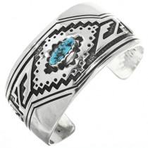 Vintage Navajo Overlaid Silver Turquoise Bracelet 30691