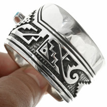 Wide Sterling Silver Cuff Bracelet Design 30691