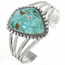 Vintage Natural Turquoise Silver Navajo Bracelet 30695