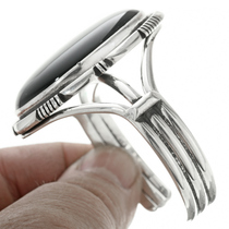 Navajo Made Silver Cuff Bracelet 30719