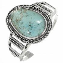 Vintage Kingman Turquoise Sterling Silver Bracelet 30721