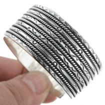 Navajo Made Silver Cuff Bracelet 30746