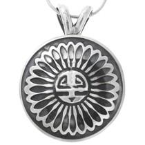 Sunface Kachina Sterling Silver Pendant 30752