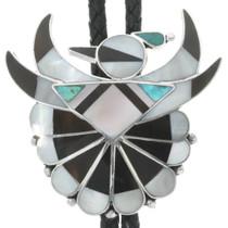 Zuni Inlaid Thunderbird Bolo Tie 30763