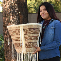 Authentic Hand Woven Apache Burden Basket 30769