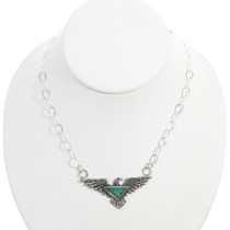 Sterling Silver Native American Eagle Necklace 30786