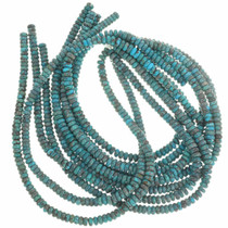 Dark Blue Turquoise Rondelle Beads 30820