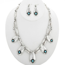 Vintage Turquoise Silver Necklace 30905