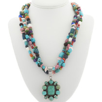Native America Turquoise Cluster Pendant 30924