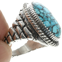 Sterling Silver Adobe Pattern Ring 30935