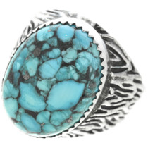 Turquoise Silver Mens Ring 30940
