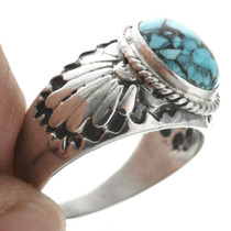 Overlaid Silver Navajo Ring 30956