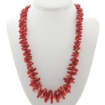 Red Coral Navajo Necklace 30959