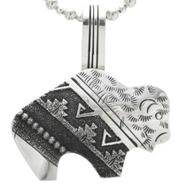 Hand Made Navajo Buffalo Pendant 30960