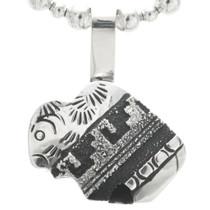 Overlaid Silver Buffalo Pendant 30961