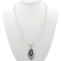 Sterling Silver Turquoise Western Necklace 30965