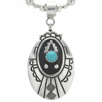 Native American Western Turquoise Pendant 30965
