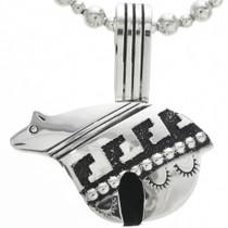 Sterling Silver Navajo Bear Pendant 30975