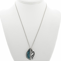 Silver Kokopelli Necklace 30976