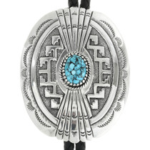 Turquoise Silver Bolo Tie 30985