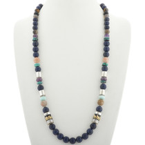 Beaded Sterling Silver Necklace 32691