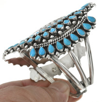 Native American Sleeping Beauty Turquoise Cuff Bracelet 30998