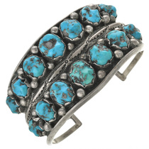 Vintage Natural Turquoise Bracelet Before Polishing 30999